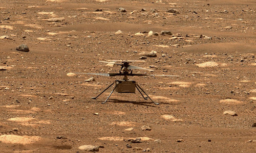 NASA's Ingenuity helicopter has successfully launched, hovered, and landed on the surface of Mars.